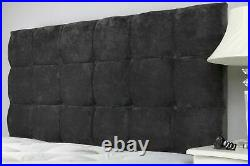 Luxury Cubes Upholstered Gas Lift Ottoman Storage Bed Base with Headboard