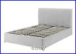 Luxury Silver Grey Velvet Bed Storage/Ottoman Single/3ft Mayfair by Time4sleep