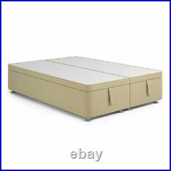 Luxury Soft Plush Velvet Upholstered Gas Lift Up Ottoman Storage Bed Frame Base