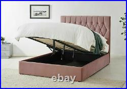 Luxury Velvet Upholstered Storage Bed In Various Sizes/Colours By Time4Sleep