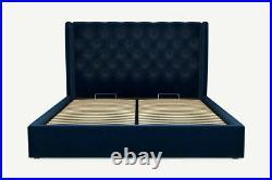 MADE. COM Romare Super King Size Ottoman Storage Bed Regal Blue Velvet RRP £1,249