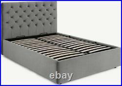MADE. COM Skye Double Ottoman Storage Bed, Light Grey Velvet RRP £699