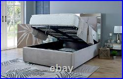 MIRROR BED 5ft KING SIZE Ottoman Storage Bed with Super Strong Metal Frame