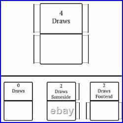 Modern Chenille Plush Velvet Drawers Storage Divan Bed Frame Base with Headboard