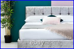 Modern Crushed Velvet Bed Frame Double & King Size Mattress Options Available