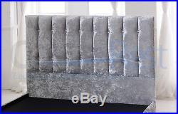 Modern Sisley Crushed Velvet Upholstered Storage Bed Frame, 3ft/4ft/4ft6/5ft