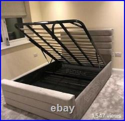 New Liner Bed 5ft Kingsoze Ottomon Storage Frame