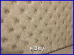 New Ottoman 5 ft King size storage bed beige