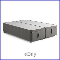 New Plush Velvet Fabric Modern Ottoman Gas Lift Storage Divan Bed Frame Base UK