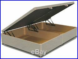 New Vertical Panels Floor Standing Headboard Ottoman Storage Gas Lift Bed Frame