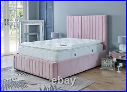 Nina Ottoman Storage Bed with Super Strong Metal Frame Single, Double, King Size