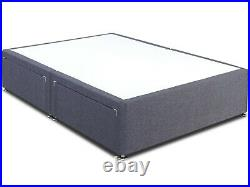 Ottoman Bed Divan Bed Storage Drawers Soft Naples Velvet Gas Lift Up Frame Base