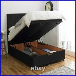 Ottoman Bed Divan Bed Storage Soft Plush Velvet Gas Lift Up Frame Base