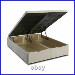 Ottoman Divan gas lift Storage bed, Soft Plush Velvet, FREE 20 HEADBOARD