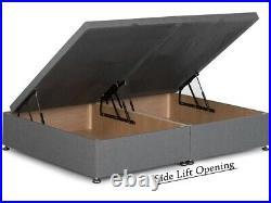 Ottoman Gas Lift Storage Divan Bed + SR Headboard + Mattress Option Made in UK
