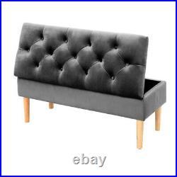 Ottoman Storage Bench Stool Bed-end Hallway Velvet Upholstered Storage Footstool