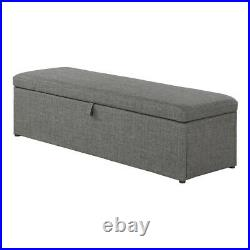 Ottoman Storage Box Blanket Box Large Upholstered Footstool Pouffe Stool Plain