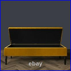 Ottoman Storage Box, Upholstered Footstool, Bench, Coffee Table, Kids Toys Box