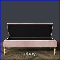 Ottoman Storage Box Upholstered Footstool, Coffee Table with Storage, End Table