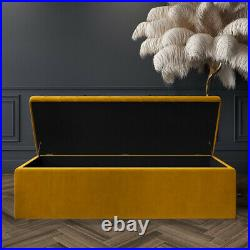 Ottoman Storage Box Upholstered Footstool, Pouffe Bench, Coffee Table, End Table