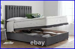 Ottoman Storage Gas Lift Bed + 54inch Floorstanding Headboard All Sizes