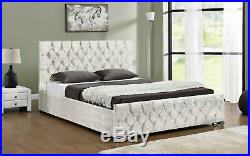 Ottoman Storage Upholstered Bed Frame Super King Size Various Colours Available