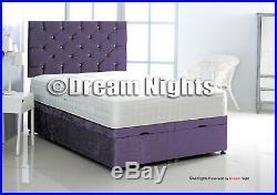 Ottoman Upholstered Crush Velvet Bed 3'0, 4'0, 4'6, 5'0, 6'0