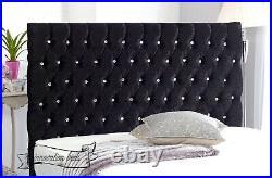 Ottoman gas lift storage bed 54 floor standing headboard