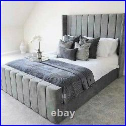 Ottoman storage bed grey