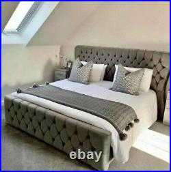 Oxford Bed, All fabrics, colours & sizes available, with ottoman storage(option)