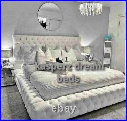 PARK LANE AMBASSADOR BED -Ottoman Gas Lift Bed in Plush Velvet