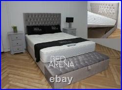 Plush Velvet Florida Divan Bed, Storage Bed, Ottoman Gas Lift Storage Bed
