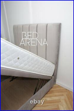 Plush Velvet Lorenzo Divan Bed, Storage Bed, Ottoman Gas Lift Storage Bed