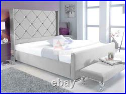 Plush Velvet Special Wingback With/Without Gas Lift Ottoman Gas Lift Storage Bed