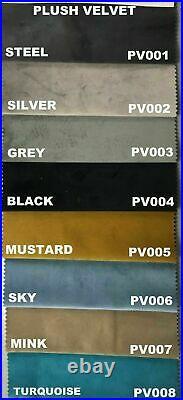 Plush Velvet Upholstered Ottoman Storage Gas Lift Up Bed Frame Base + Headboard