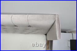 Plush Velvet WingBack Divan Storage Bed, Winged Bed Storage Bed Gas lift Bed