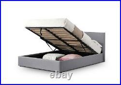 Rialto Lift-Up Storage Bed 5ft Kingsize Light Grey Linen Gas Powered Lift-up