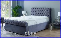 SWAN 4.6ft Double Ottoman Storage Bed with Patented Super Strong Metal Frame