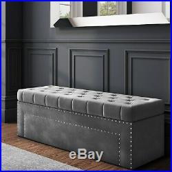 Safina Hall Storage Bench in Grey BUN/SAF042/70722