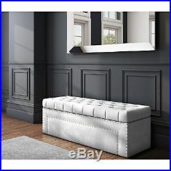 Safina Hall Storage Bench in Silver Grey BUN/SAF043/70716