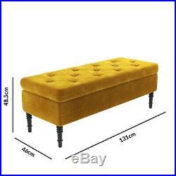 Safina Storage Bench in Mustard Yellow BUN/SAF052/70721