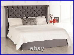 Sienna Ottoman Wing Storage Bed Diamante Buttons Esupasaver Made in England