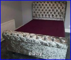Sleigh Bed Ottoman Gas-Lift Storage or Without Storage Haven Beds