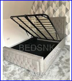 Small double bed frame with storage