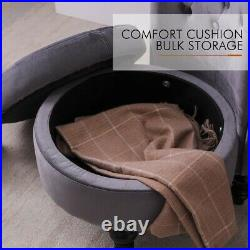 Sofa Bed Chair with Storage High Back Single Couch Soft Seat Velvet Upholstered