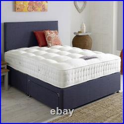 Soft Plush Velvet Upholstered Storage Drawers Divan Bed Frame with Headboard