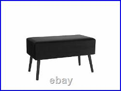 Suitcase Coffee Table Black Velvet Drawers Storage Upholstered Amtrak