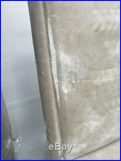 Super King Grey-Green Storage Bed Upholstered in Velvet Swaffer Venice 203