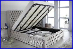 Swansea wing gas lift storage bed frame
