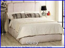Texas Gas Lift Ottoman Storage Bed Crushed Velvet, Chenille, & Linen Fabrics